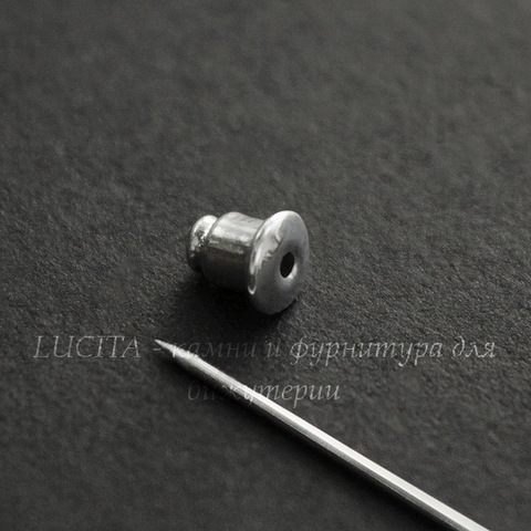 """Основа для броши """"Иголочка"""" с петелькой, 60 мм (цвет - серебро)"""