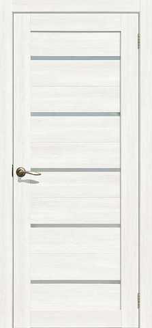 > Экошпон Двероникс 06, стекло матовое, цвет молочный дуб, остекленная
