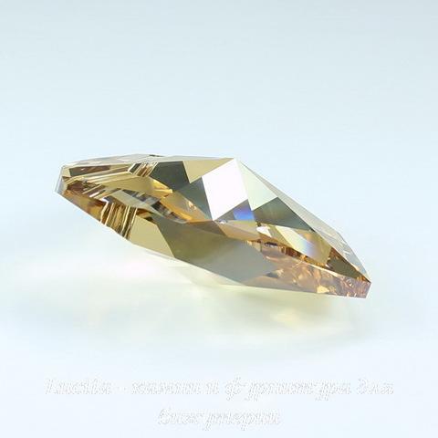 6228 Подвеска Сваровски Сердечко Crystal Golden Shadow (18х17,5 мм)