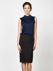 B2481-8 блузка женская, синяя
