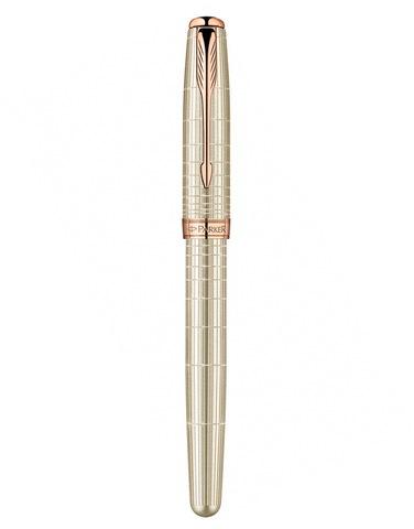 Ручка-роллер Parker Sonnet T535 VERY PREMIUM Feminine, (серебро 925 пробы, 16.96) цвет: Silver PGT, толщина пишущего узла: Fblk123