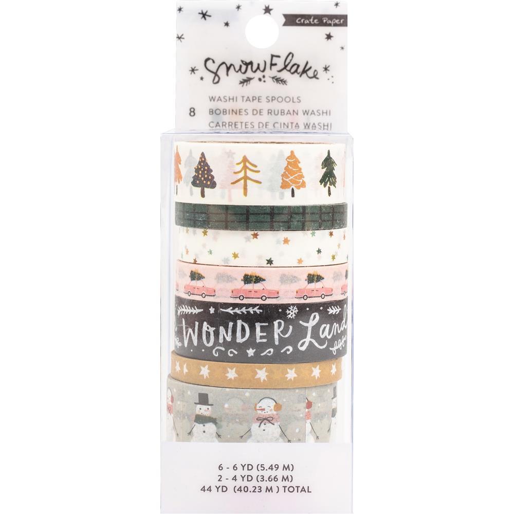 Набор скотчей Snowflake Washi Tape -8шт
