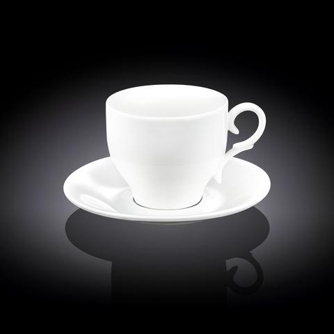 Набор чайная чашка и блюдце Wilmax 170 мл (WL-993104)