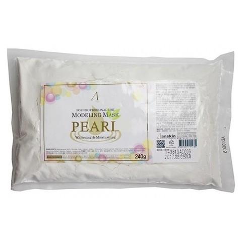 Альгинатная маска с экстрактом жемчуга для увлажнения и осветления кожи Anskin Pearl Modeling Mask / Refill (пакет), 240г