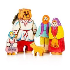 Набор фигурок сказки Маша и медведь (5 фигур)