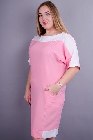 Сіті літо. Ніжне плаття великих розмірів. Рожевий.
