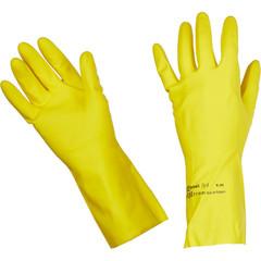 Перчатки хозяйственные Vileda Контракт латекс желт. S (код произв. 100538)