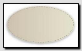 Схема овального кожаного бювара.