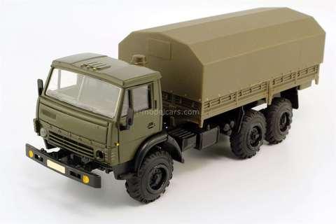 KAMAZ-4310 flatbed truck with awning khaki Elecon 1:43 used