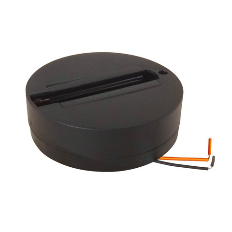 UBX-Q121 K81 BLACK 1 POLYBAG Чашка потолочного крепления. Однофазная. Черная. ТМ Volpe.