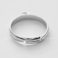 Основа для кольца с петелькой (цвет - платина)