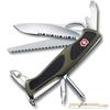 Нож перочинный Victorinox RangerGrip 178 130мм 12 функций зелено-черный (0.9663.MWC4) швейцарская карта victorinox swisscard onyx 10 функций прозрачный черный 0 7133 t3