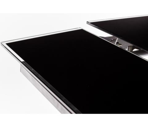 Стол обеденный S-300T раскладной стеклянный прямоугольный черный