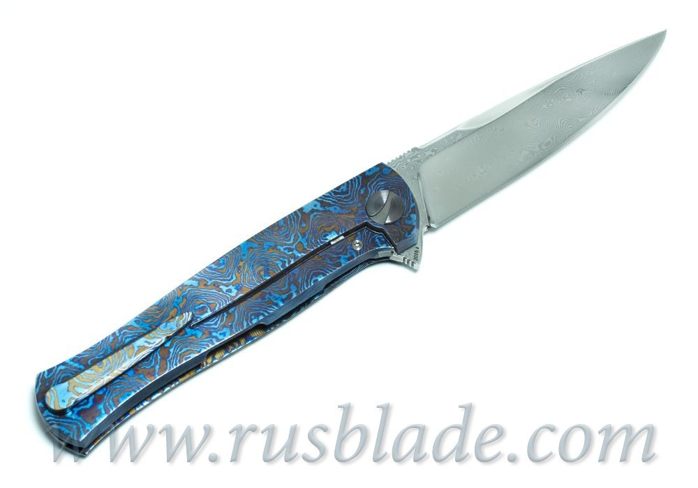 Cheburkov Pike Mammoth Damascus Custom one-off Knife