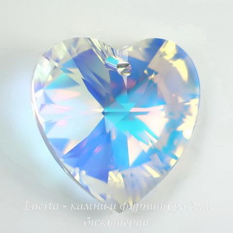 6228 Подвеска Сваровски Сердечко Crystal AB (28 мм) ()