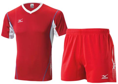 Волейбольная форма Mizuno Premium мужская красная 14-15