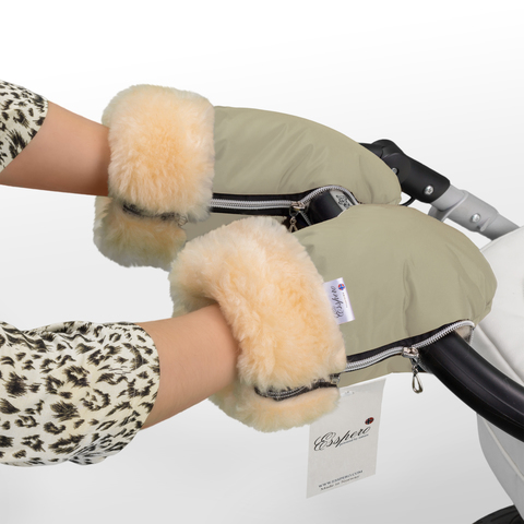 Муфта-рукавички Esspero Double для коляски (Натуральная шерсть)