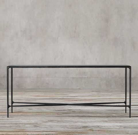 Thaddeus Forged Iron & Glass Console Table