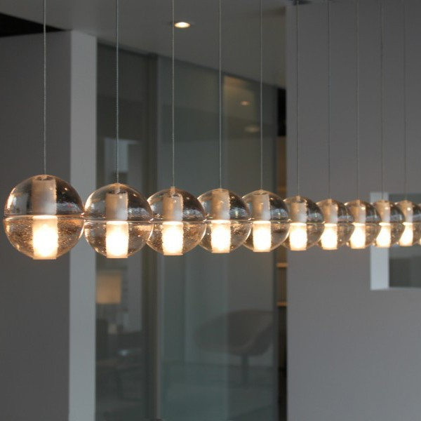 Replica bocci lights led suspension glass pendant for Replica leuchten