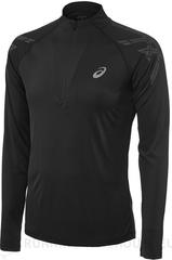 Рубашка беговая Asics Stripe 1/2 Zip Black мужская