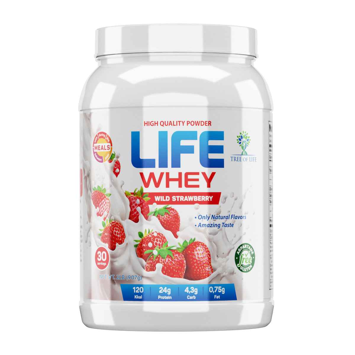 LIFE Whey Strawberry 2lb