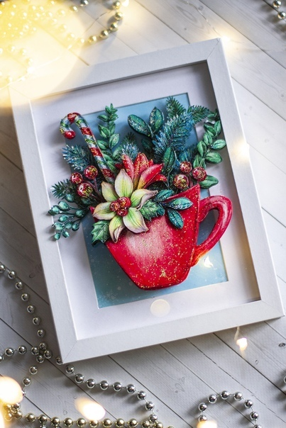 Папертоль Новогодняя чашечка - пример оформленной работы