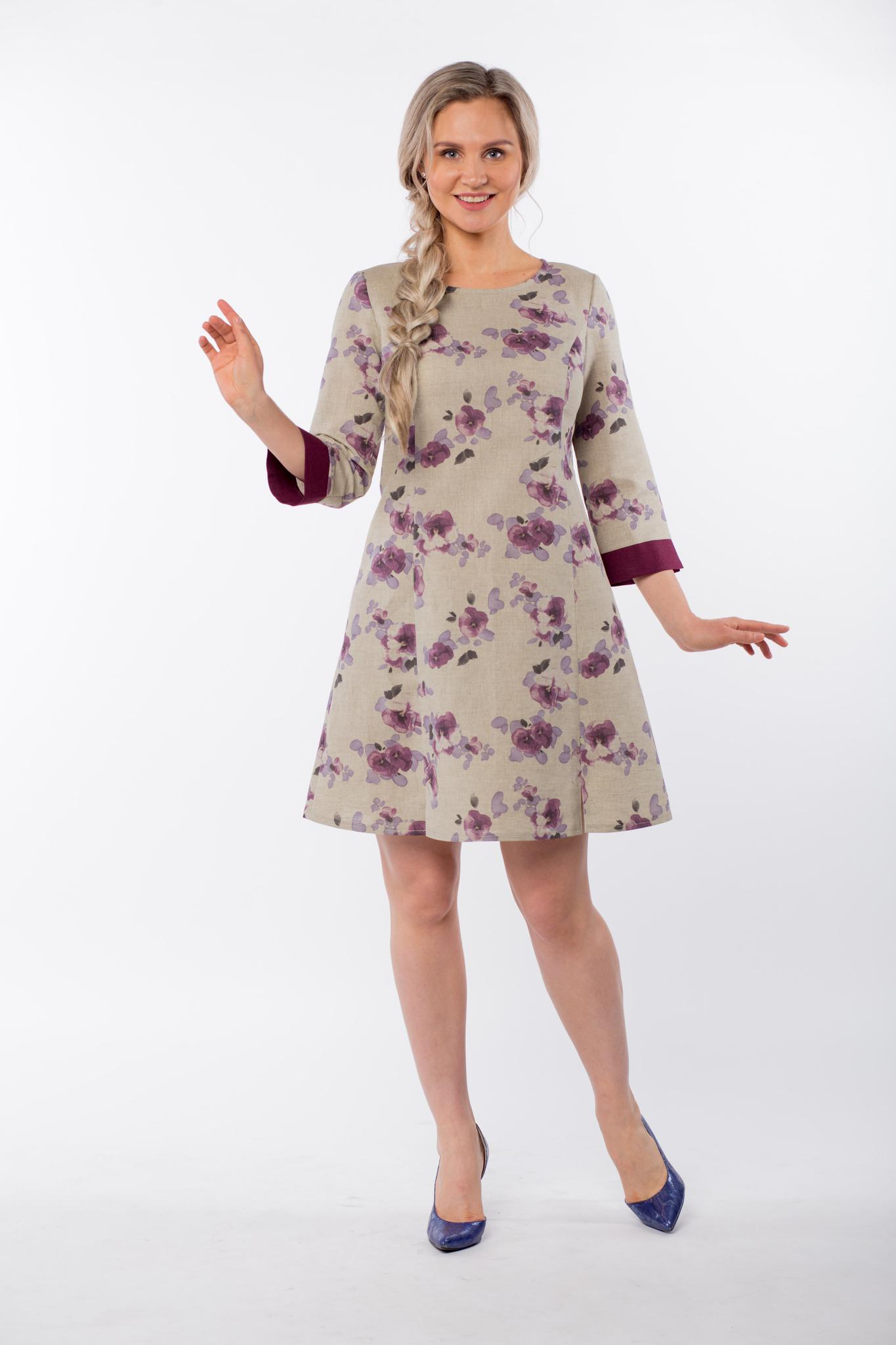 Платье льняное Лесная фиалка