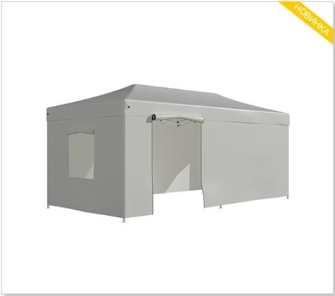 Шатер - тент садовый  3x6х3м полиэстер белый