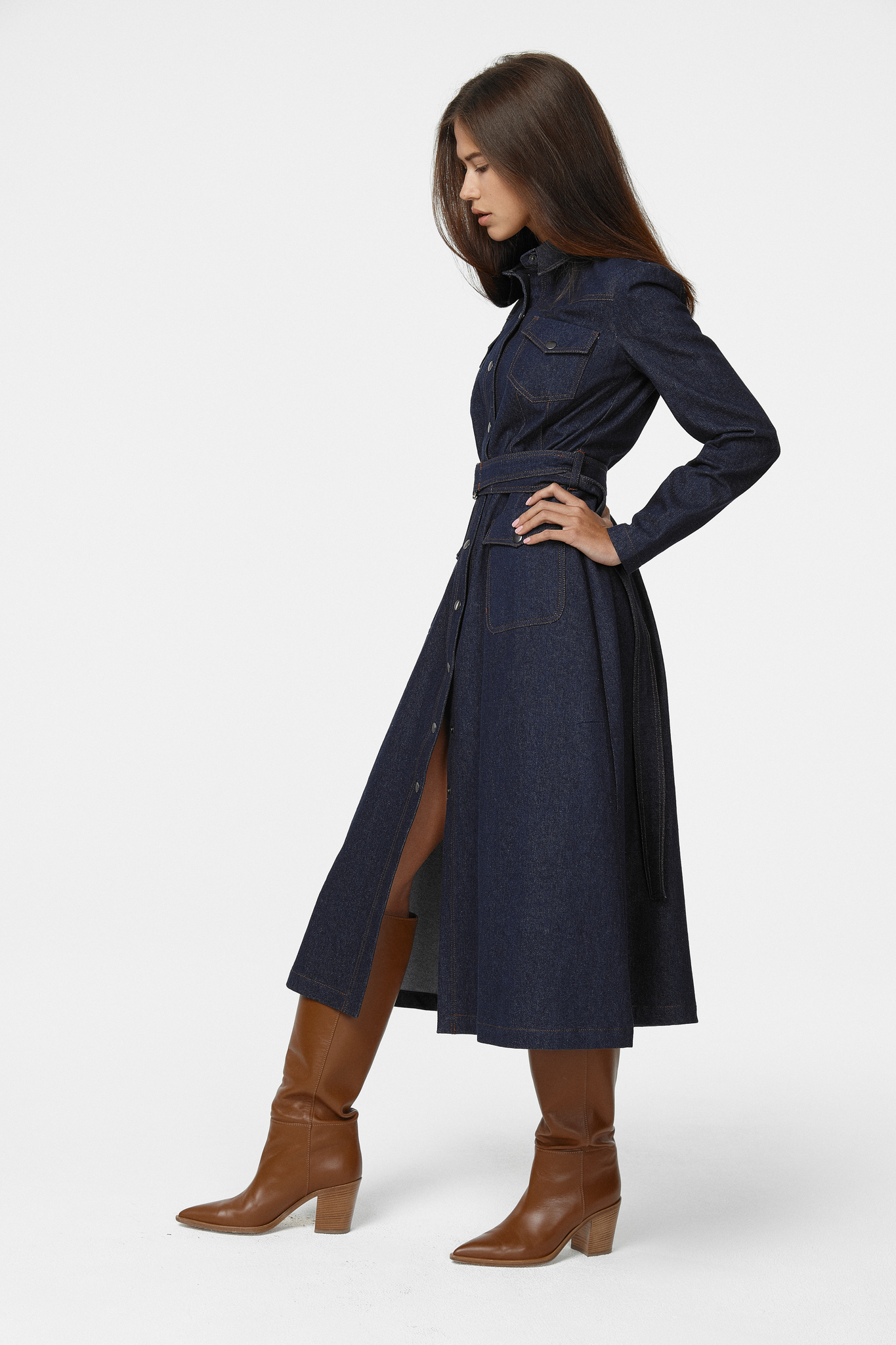 Платье из денима (FW0239)