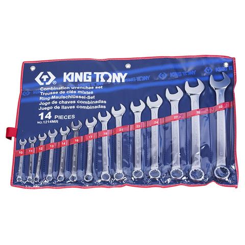 KING TONY (1214MR) Набор комбинированных ключей, 10-32 мм, 14 предметов