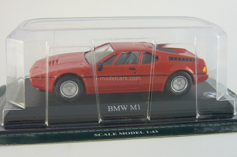 BMW M1 red Del Prado 1:43