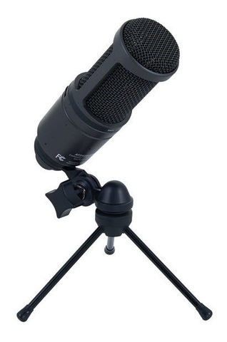 Студийный конденсаторный микрофон Audio-Technica AT2020 USB+