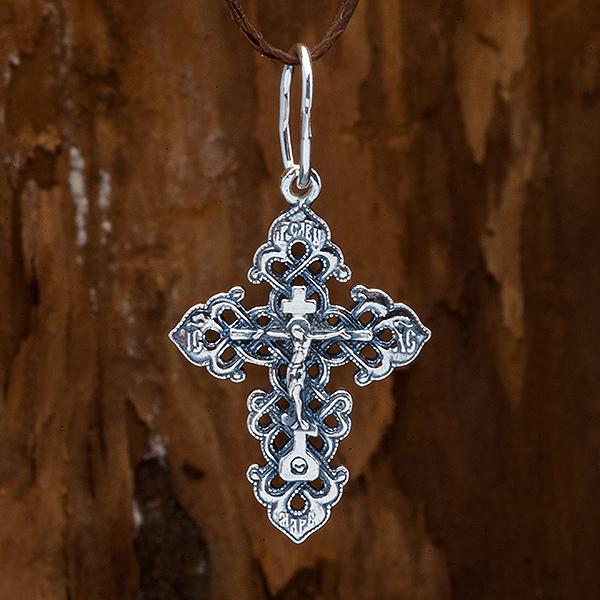 Крестик православный. Распятие. Спаси и сохрани.