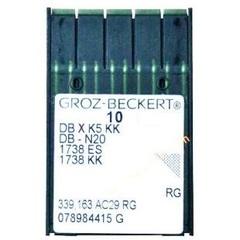 Фото: Groz Beckert DB*К5 KK универсальные иглы для промышленных вышивальных машин №80