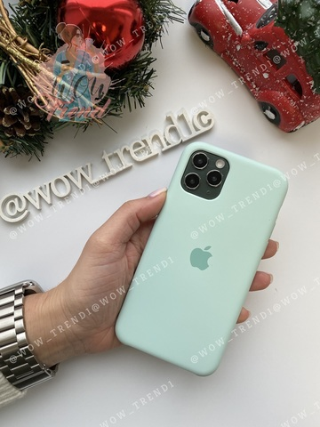 Чехол iPhone 11 Silicone Case /beryl/ голубой берилл original quality