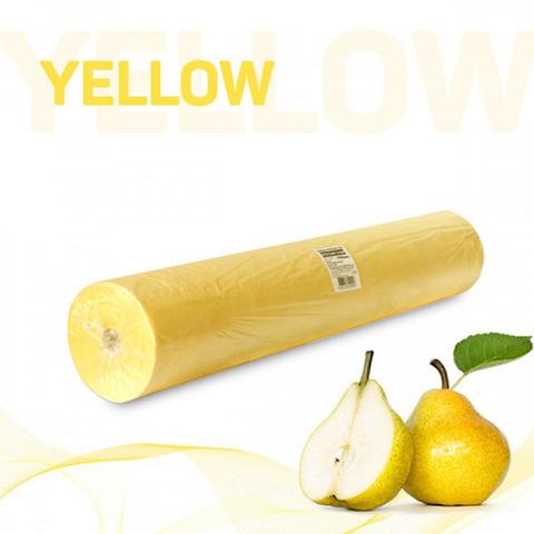 Одноразовые простыни Стандарт в рулоне желтые, СМС, 200х70см (100шт/уп)