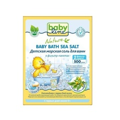 BABYLINE NATURE. Детская морская соль для ванн с чередой в фильтр-пакетах 500 г