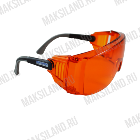 Очки светозащитные Monoart 519, 41 гр.,широкие дужки,бок.защита,оранж.,рег.дуг,наклон 261015