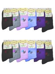E021 носки женские, цветные 36-42 (12шт)