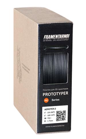 Пластик Filamentarno! Aerotex. Цвет черный, 1.75 мм, 750 грамм