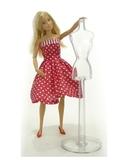 Два хлопковых платья - На кукле. Одежда для кукол, пупсов и мягких игрушек.