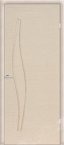 Дверь Сибирь Профиль Волна (С-10), цвет беленый дуб, глухая