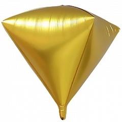 Шар (27''/69 см) Алмаз, Золото, 1 шт.