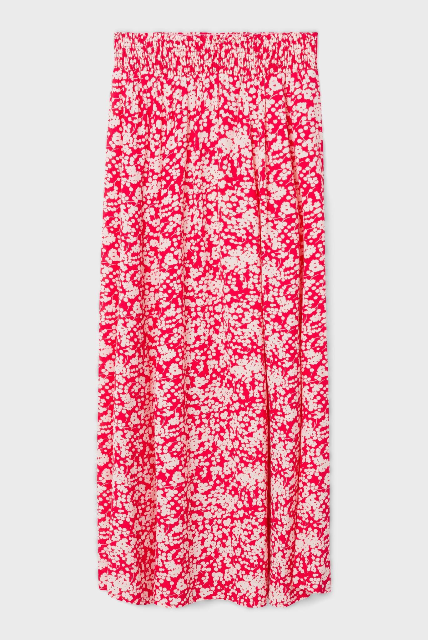 Юбка-миди с набивным цветочным рисунком