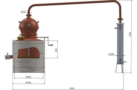 Аппарат медный для дистилляции Des Премиум 350 литров