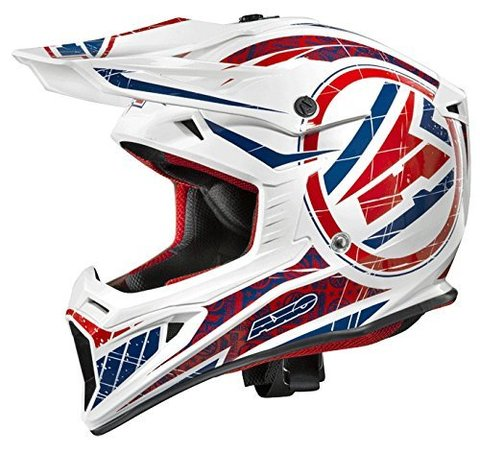 Мотошлем AXO CASCO JUMP WHITE/BLUE/RED L