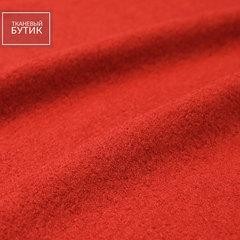 Красно-кирпичный лоден из вискозы с шерстью