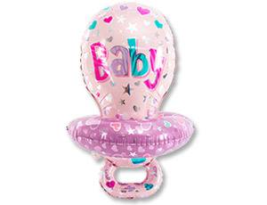 Шары для новорождённых Фольгированный шар Соска розовая 1207-2893_m1.jpg