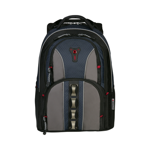 Рюкзак WENGER Cobalt, цвет чёрный/синий/серый, отделение для ноутбука 16, 46х35х23 см., 23 л. (600629) - Wenger-Victorinox.Ru