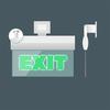 Универсальное крепление светового пожарного указателя Молния-220 РИП ULTRA «Выход»